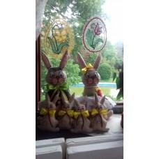 Nyuszi család ( Apa - Anya nyuszi + 5 kicsi nyuszi )